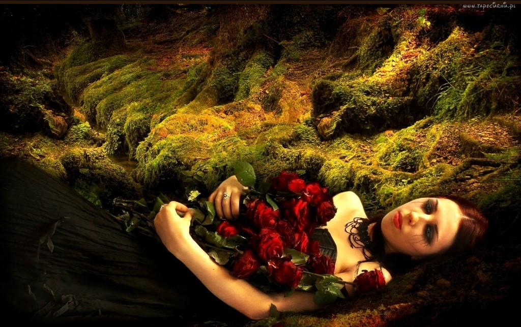 kobieta_roze_placz_lzy_czarna_suknia