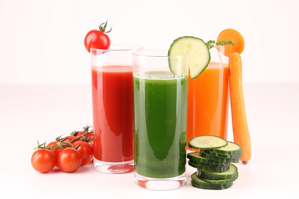 healthy and fresh vegetables juice