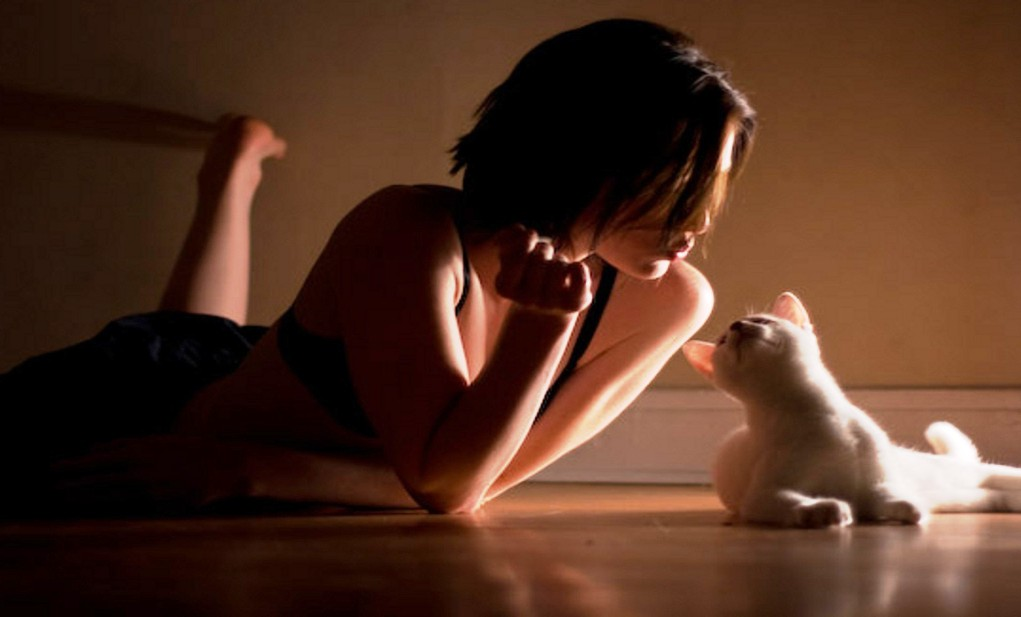 dziewczyna_kot_laszenie_milosc